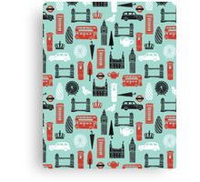 London Block Print by Andrea Lauren Canvas Print