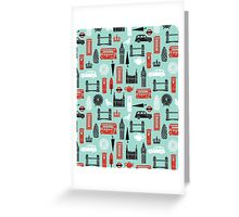 London Block Print by Andrea Lauren Greeting Card