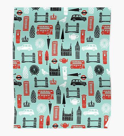 London Block Print by Andrea Lauren Poster