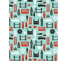 London Block Print by Andrea Lauren Photographic Print