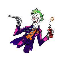 The Joker cartoon Photographic Print