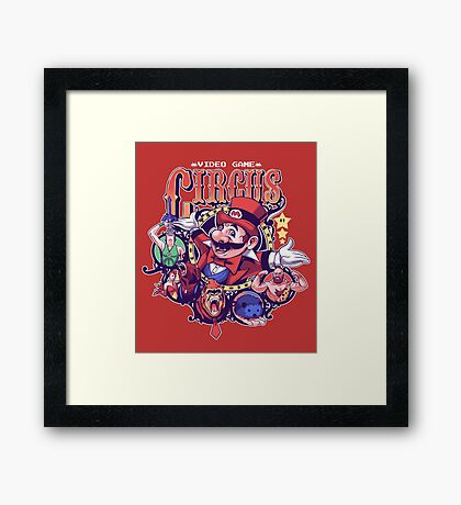 Video Game Circus Framed Print