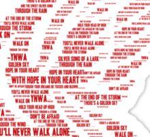 You'll Never Walk Alone Liver Bird Sticker