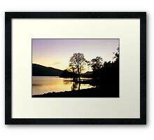 The End of a Perfect Day. Framed Print