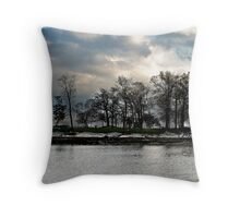 cloud. trees. water. Throw Pillow