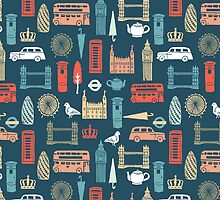 London Block Print - Multi by Andrea Lauren by Andrea Lauren