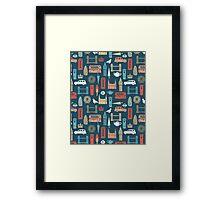 London Block Print - Multi by Andrea Lauren Framed Print