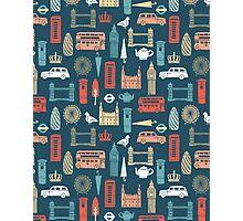 London Block Print - Multi by Andrea Lauren Photographic Print