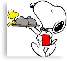 Snoopy Bellboy Canvas Print