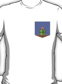 Super Mario Bros Breast Pocket Shirt T-Shirt