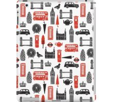 London Block Print - Black and Red by Andrea Lauren iPad Case/Skin