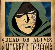 Wanted Monkey D Dragon - One Piece by Amynovic