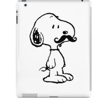 Mustache Snoopy iPad Case/Skin