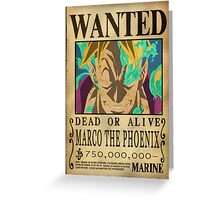 Wanted Marco - One Piece Greeting Card
