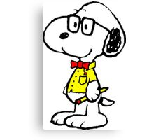Snoopy nerd Canvas Print