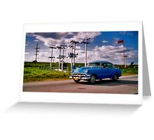 cuba car scene Greeting Card