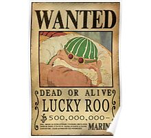 Wanted Lucky Roo - One Piece Poster