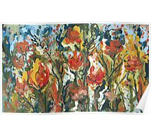Abstract Tulips Poster
