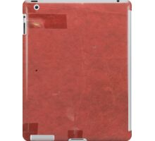 Vintage red book with spots and tape iPad Case/Skin