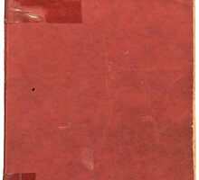 Vintage red book with spots and tape by Colorello
