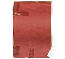 Vintage red book with spots and tape Poster