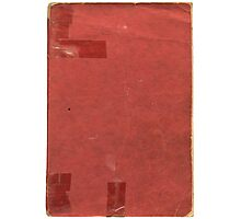 Vintage red book with spots and tape Photographic Print