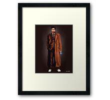 Tenth Doctor Full Body Portrait Framed Print