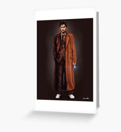 Tenth Doctor Full Body Portrait Greeting Card
