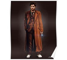Tenth Doctor Full Body Portrait Poster