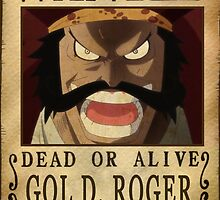 Wanted Gol d Roger - One Piece by Amynovic