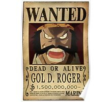 Wanted Gol d Roger - One Piece Poster