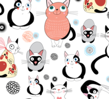 Collection of Cats Sticker