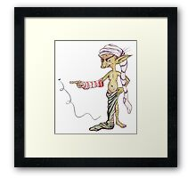 The Sock Thief Framed Print