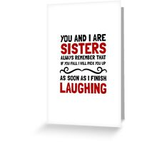 Sisters Laughing Greeting Card