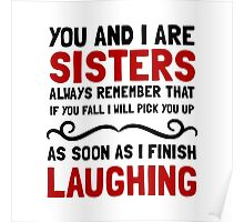Sisters Laughing Poster