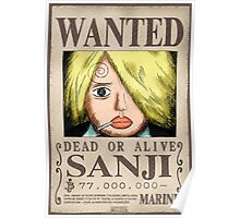 Wanted Sanji - One Piece Poster
