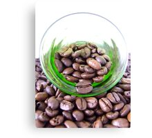A glass of coffee Canvas Print
