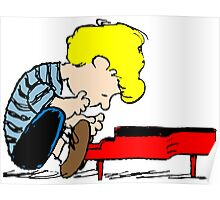 Schroeder on piano Peanuts Poster