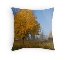 Paths of leaves Throw Pillow