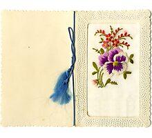 Beautiful Vintage Greeting Card Photographic Print