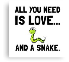 Love And A Snake Canvas Print