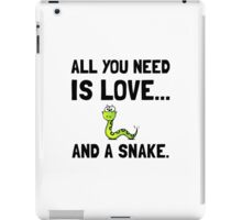 Love And A Snake iPad Case/Skin