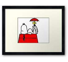 Woodstock with Snoopy Framed Print