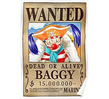 Wanted Baggy - One Piece Poster