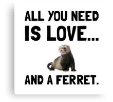 Love And A Ferret Canvas Print