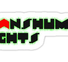 Transhuman Rights Sticker