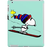 Snoopy on snow iPad Case/Skin