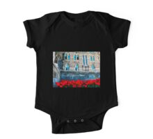 Red Blossoms  to Parliment Hill One Piece - Short Sleeve