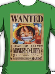 Wanted Luffy - One Piece T-Shirt