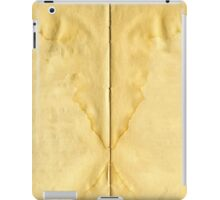 Open ancient book with blank pages iPad Case/Skin